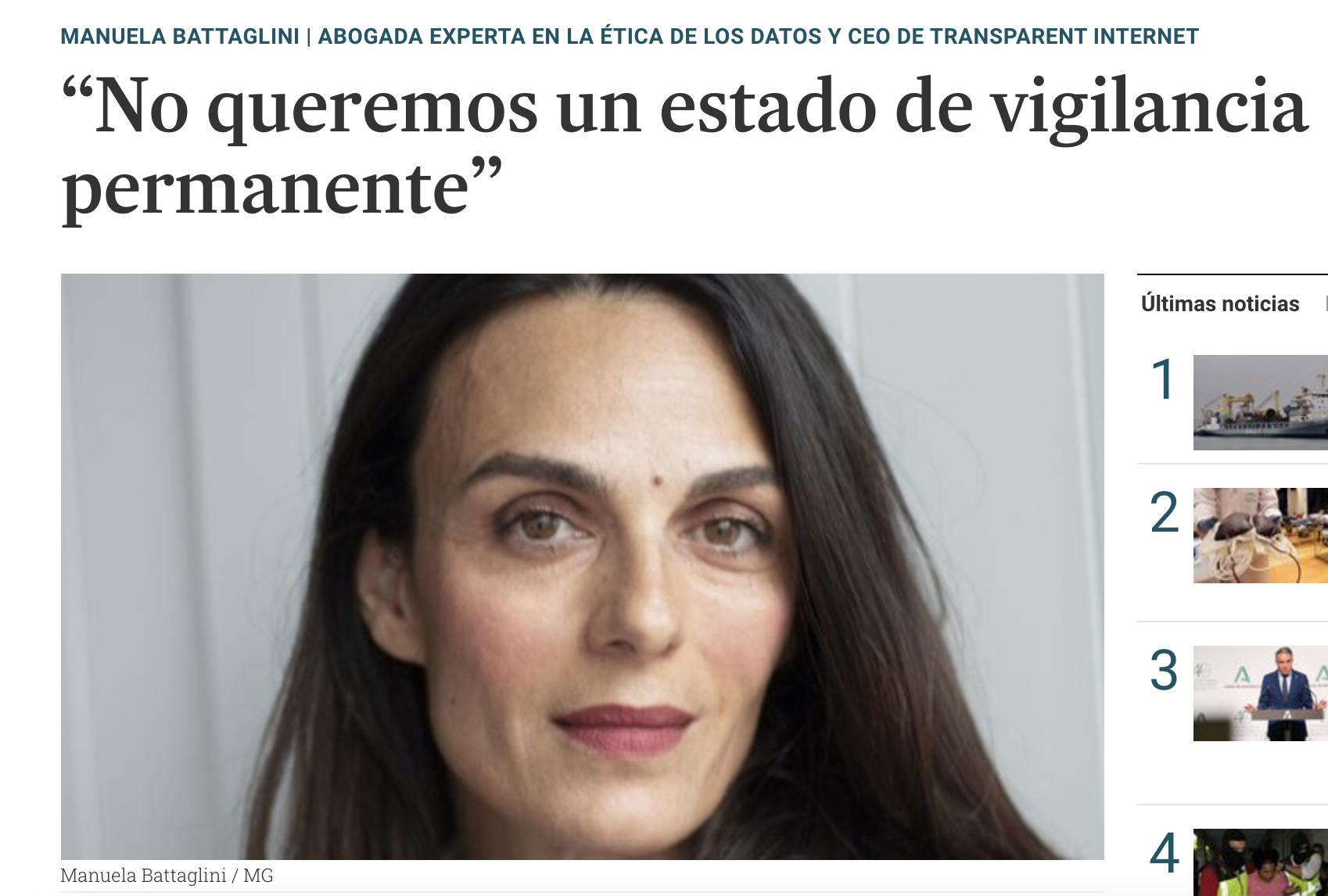"""No queremos un estado de vigilancia permanente"""